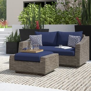 Castelli Loveseat and Ottoman with Cushions by Wade Logan