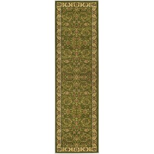 Ottis Power Loomed Sage/Ivory Area Rug by Charlton Home
