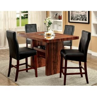 Carroll 5 Piece Counter Height Pub Table Set Hokku Designs