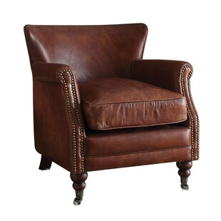 Devyn Top Grain Leather Club Chair by Loon Peak