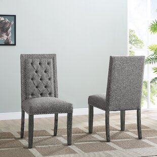 Lamothe Upholstered Dining Chair (Set of 2) House of Hampton