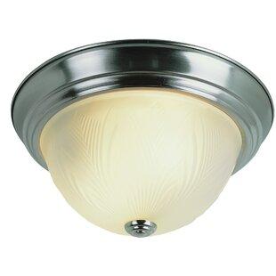 Charlton Home Evangeline 1-Light Flush Mount