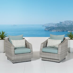 Wade Logan Castelli Club Chair with Cushions (Set of 2)
