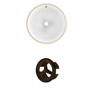 Shopping for Ceramic Circular Undermount Bathroom Sink with Overflow By Royal Purple Bath Kitchen