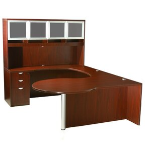 Reviews Aleen 5 Piece U-Shape Desk Office Suite By Red Barrel Studio