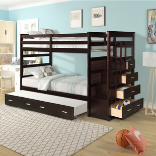 Peavey Solid Wood Twin over Twin Triple Bed by Harriet Bee