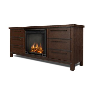 Real Flame Parsons TV Stand with Fireplace