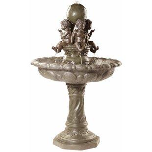 Wildon Home ® Resin Four Splashing Putti Sculptural Fountain
