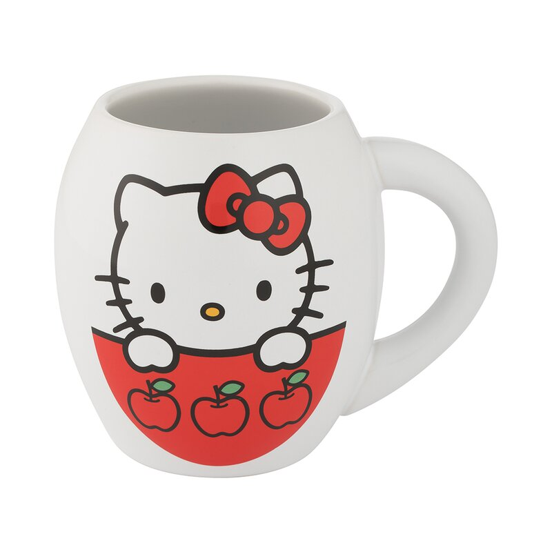 Hello Kitty I Love Apples Oval Mug