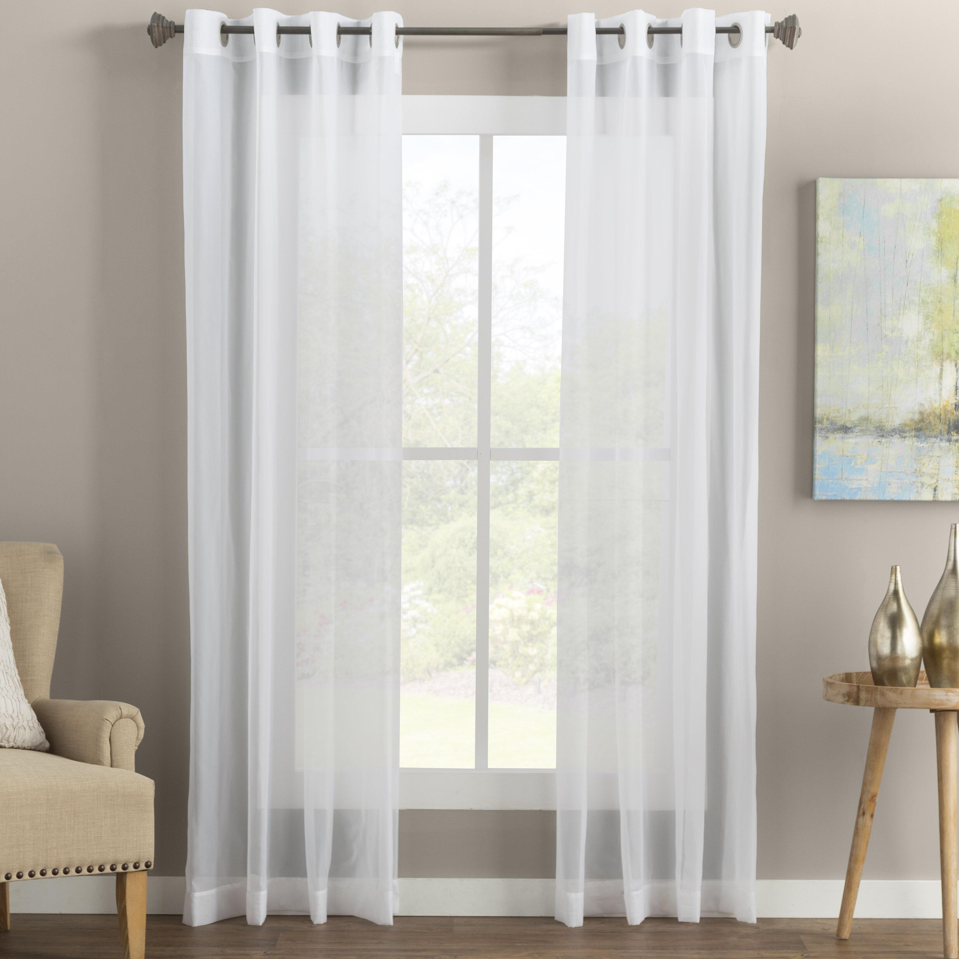 Wayfair Basics Solid Sheer Grommet Single Curtain Panel