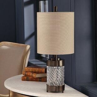 Casanova Spiral Glass 21 Table Lamp