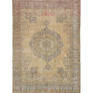 One-of-a-Kind Olsen Hand-Knotted Beige Area Rug