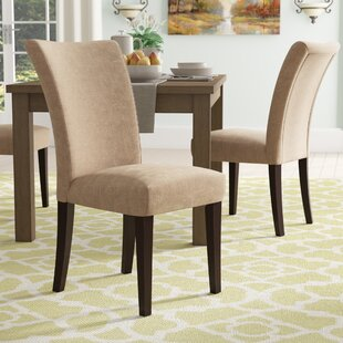 Doerr Linen Parson Chair (Set of 2) Charlton Home