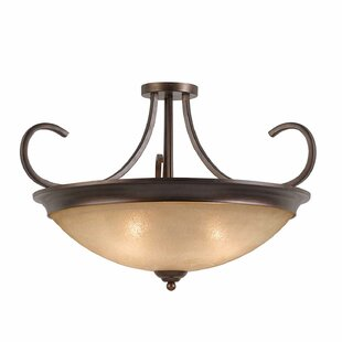 Xzavier 4-Light Semi Flush Mount by Alcott Hill