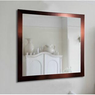 Online Reviews Industrial Bronze Wall Mirror ByBrayden Studio