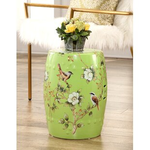 Critchlow Hand Painted Floral Garden Stool by Bloomsbury Market