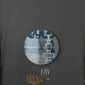 East Urban Home Onique Wall Clock Wayfair