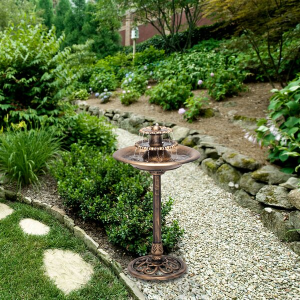 Beautiful Rustic Large Garden Deck Patio Water Pump Buckets Outdoor Fountain Ornate Rustic Realistic Perfect Conversation Piece With Electric Powered Cascading Water Fall Looks Like Old Hand Pump