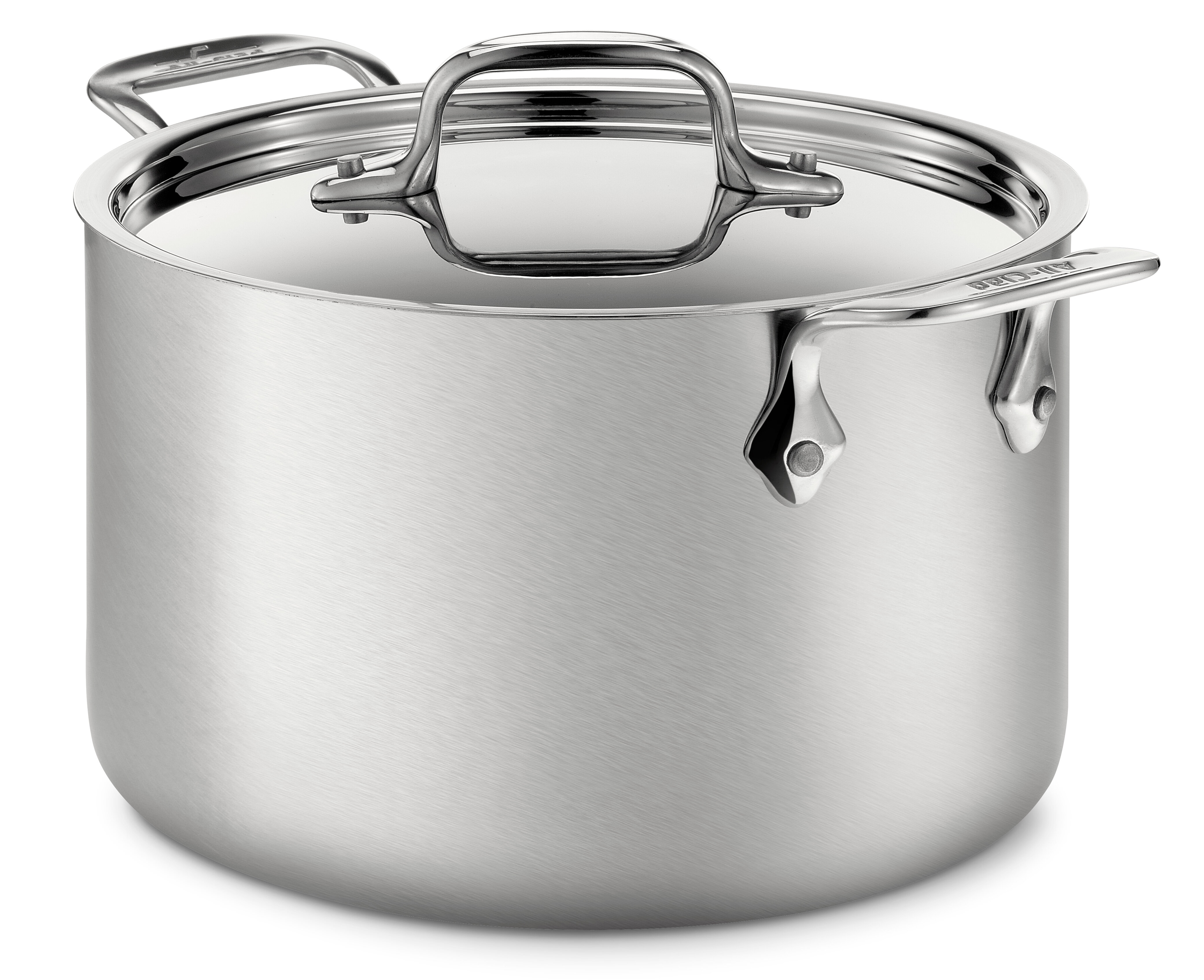 All-Clad d5 Brushed Stainless Steel 128 Oz. Soup Pot with Lid ...