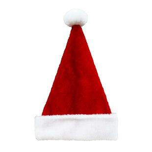 f24bc54b64d4b 16 Plush Christmas Santa Hat with Pom-Pom