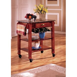 Kitchen Cart with Marble Top