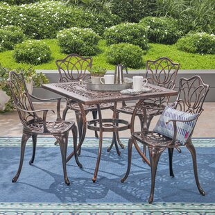 Bryton Outdoor 5 Piece Dining Set