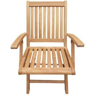 Kristopher Folding Teak Patio Dining Chair (Set of 2)