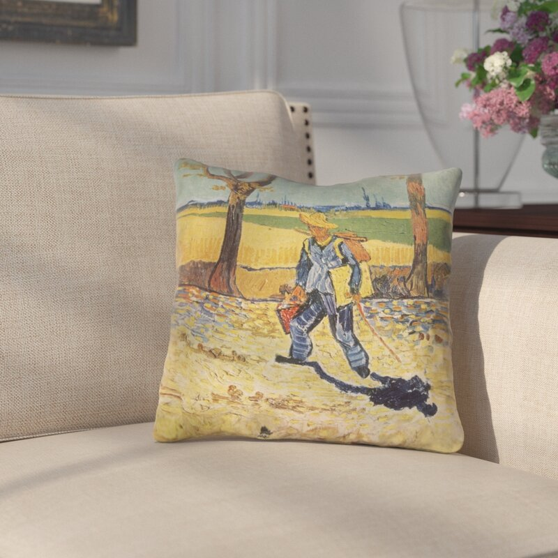 Darby Home Co Zamora Self Portrait Square Indoor Throw Pillow Wayfair