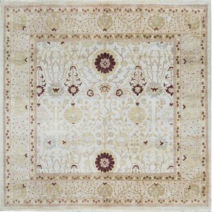One-of-a-Kind Ziegler Hand-Knotted Wool Ivory Indoor Area Rug ByBokara Rug Co., Inc.