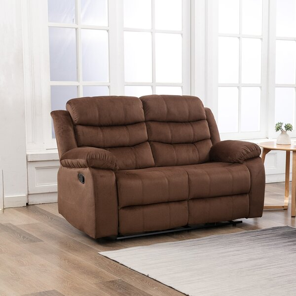Latitude Run Chetana Microfiber Microsuede Reclining 56 3 Pillow Top Arm Sofa Wayfair