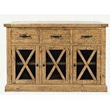 Thame 52 Wide 3 Drawer Pine Wood Sideboard by Loon Peak®