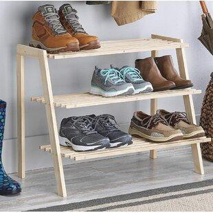 Rebrilliant Miriam Wood Shoe Rack