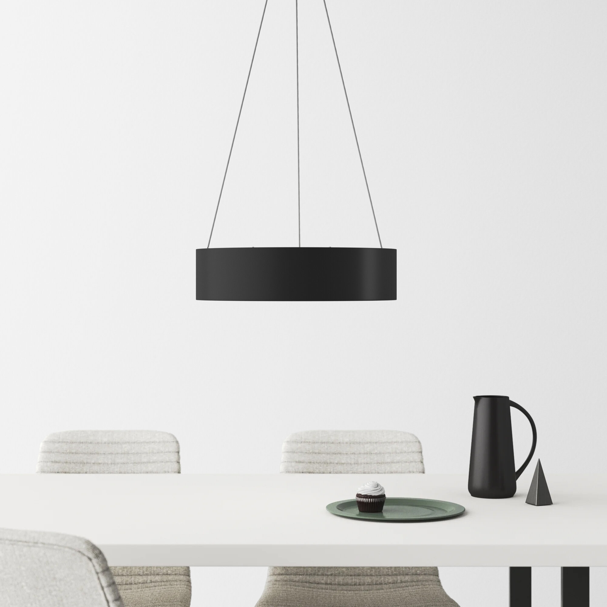 1 Light Single Drum Pendant Allmodern