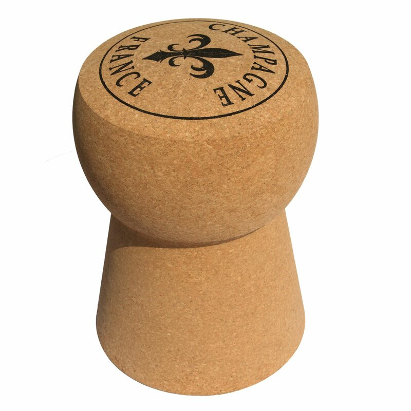 Champagne Cork Accent Stool