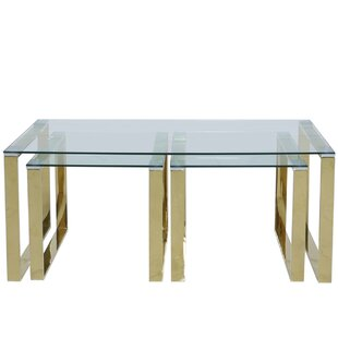 Shamir 3 Piece Coffee Table Set By Wade Logan