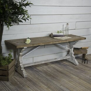 Wilbur Antique Wooden Bench by Ophelia & Co.