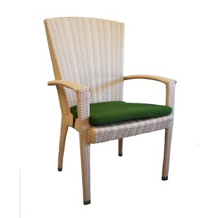 Breeze Stacking Patio Dining Chair with Cushion