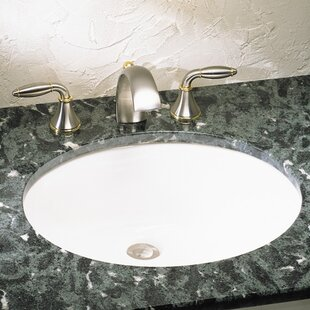 Bargain Ovalyn Ceramic Oval Undermount Bathroom Sink with Overflow ByAmerican Standard