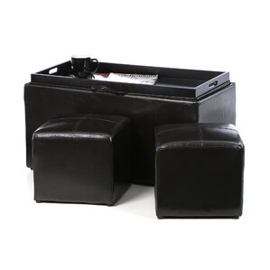 Zipcode Design Marla 3 Piece Storage Ottoman Set Image