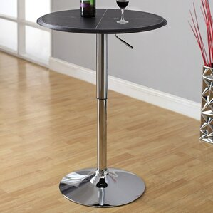 Citizen Leatherette Adjustable Pub Table by Hokku Designs