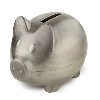 bate pewter plain piggy bank