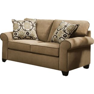 Simmons Upholstery Milligan Loveseat by Darby Home Co 2019 Sale