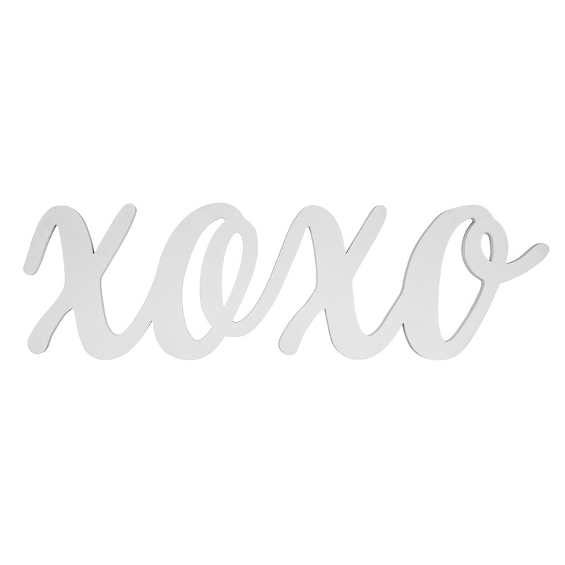 Acle Large Script XOXO Wood Cut Out Word Letter Blocks