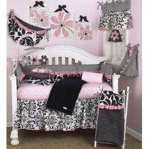 Girly 8 Piece Crib Bedding Set