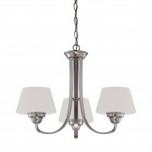 Pokorny 3-Light Shaded Chandelier by Charlton Home