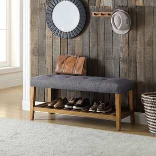 Indoor Wooden Storage Bench   Wayfair