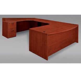 Fairplex Grommet Holes U-Shape Executive Desk by Flexsteel Contract Bargain