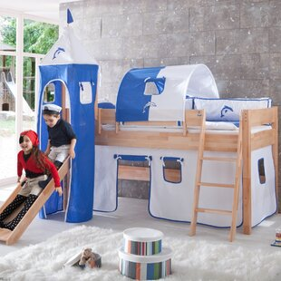 Tess European Single Mid Sleeper Bed With Tower By Harriet Bee