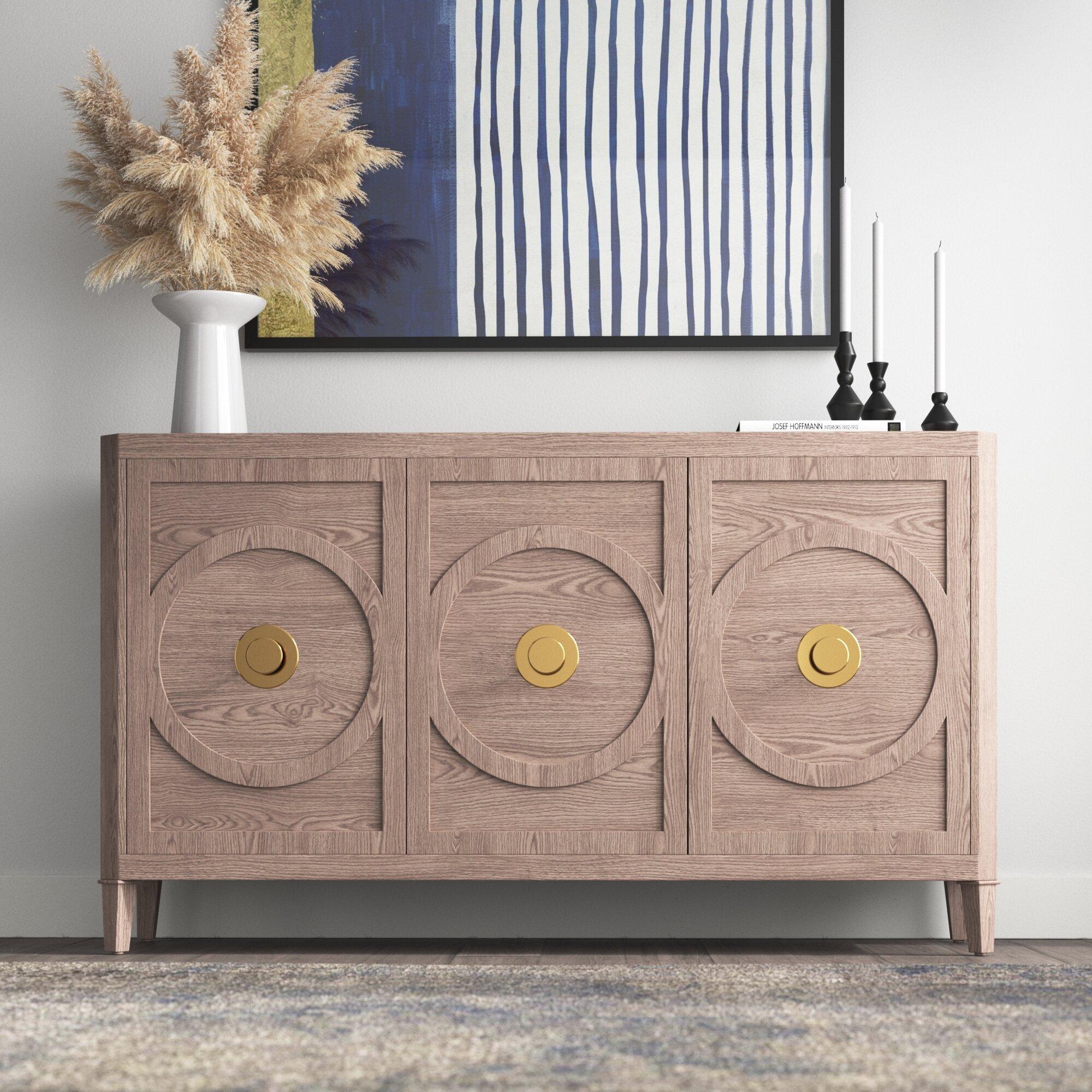 Chavis Solid Wood 20   Door Accent Cabinet
