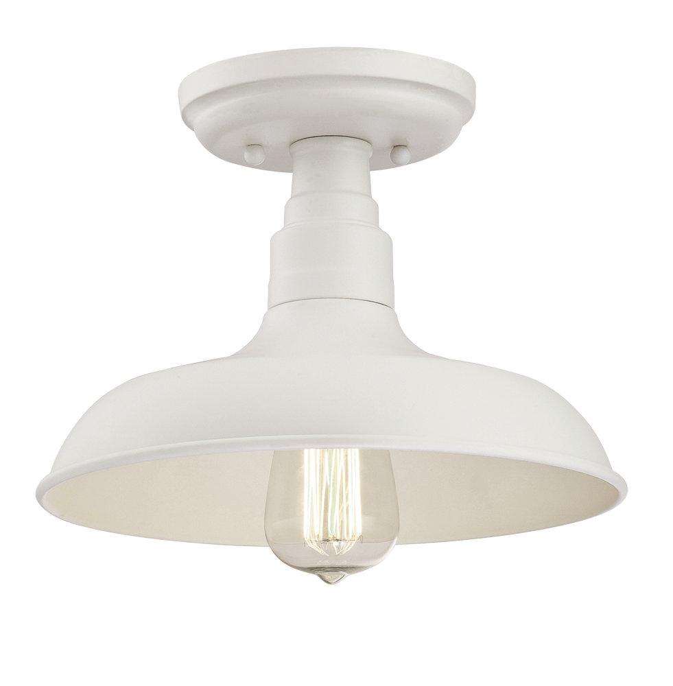 Laurel foundry modern farmhouse stephine 1 light led semi flush mount reviews wayfair